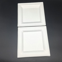 Square Biodegradable Disposable Cake Tray Paper Plate